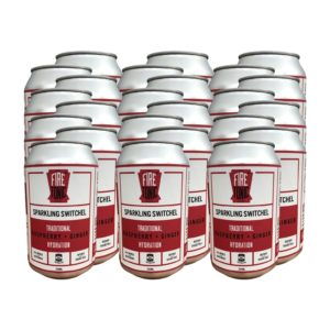 079. FiRE TONiC ® Traditional Switchel – Raspberry & Ginger – CASE [x24 330ml Cans]