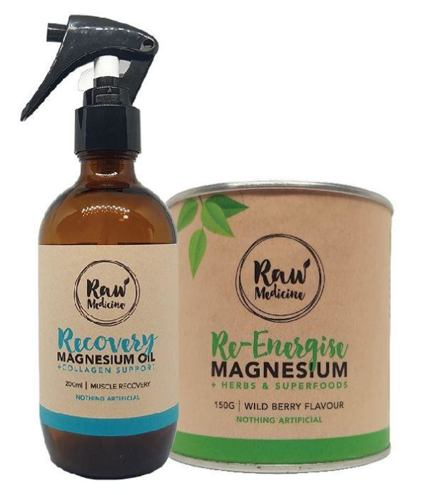 Raw Medicine recovery magnesium package magnesium supplement and magnesium oil buy online at Yo Life