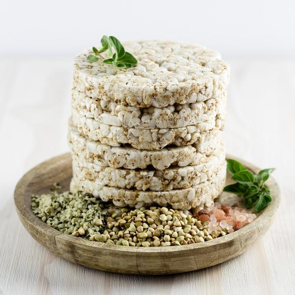 Eat to Live Buckwheat cakes with hemp seeds healthy savoury snacks 2 buy online at Yo Life