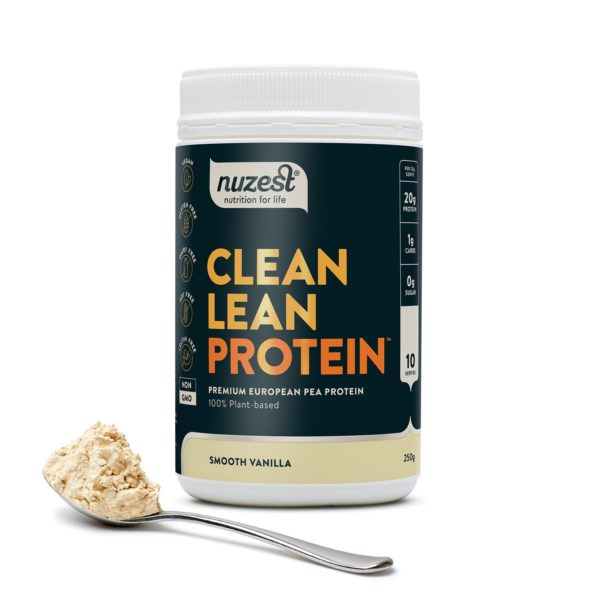 pea protein Nuzest Clean Lean protein Smooth Vanilla 250g plant based protein buy online at Yo Life